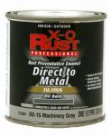 True Value Mfg XO15-HP Anti-Rust Oil-Base Enamel, Machinery Gray Gloss, 1/2-Pt.