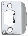 Kwikset 3437 26 STRK F/LIP Satin Chrome Standard Strike Plate
