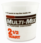 Leaktite 05M3050 2.5-Qt. Calibrated Multi-Mix Container