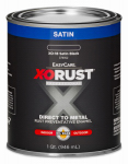 True Value Mfg XO18-QT Anti-Rust Oil-Base Enamel, Black Satin, 1-Qt.