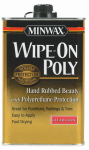 Minwax The 40910 Wipe-On Poly, Clear Satin, 1-Pt.