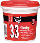 Dap 12121 '33' Window Glazing Compound, White, 1-Pt.