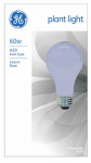 G E Lighting 41624 60-Watt Incandescent Plant Light Bulb
