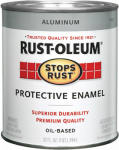Rust-Oleum 7715-502 Qt. Aluminum Stops Rust Enamel