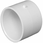 Charlotte Pipe & Foundry PVC 00130  0600HA Plastic Pipe Fitting, DWV  Repair Coupling, PVC, 1-1/2-In.