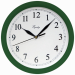 La Crosse Technology 25205 Wall Clock, Hunter Green, 10-In. Round