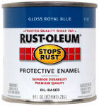 Rust-Oleum 7727-730 1/2-Pint Gloss Royal Blue Stops Rust Enamel
