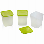 Arrow Plastic Mfg 00044 Freezer & Storage Container, 1-Qt., 3-Pk.
