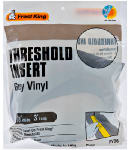 Thermwell RV/36H Vinyl Insert for Aluminum Threshold, Gray, 36-In.