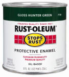 Rust-Oleum 7738-730 1/2-Pint Gloss Hunter Green Stops Rust Enamel