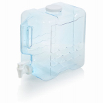 Arrow Plastic Mfg 00743 Beverage Container, Refillable, Blue Plastic, 2-Gals.