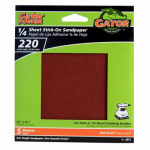 Ali Industries 4072 5-Pack 220-Grit 1/4-Sheet Stick-On Sandpaper