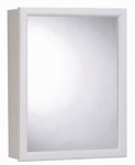 Zenith Products PW16 Medicine Cabinet, White Frame, Swing-Door