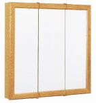 Zenith Products K24 Medicine Cabinet, Oak Frame, Tri-View