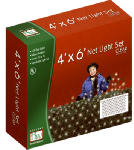 Noma/Inliten-Import 48950-88 Christmas Net Light Set, Clear, 150-Ct., 4 x 6-Ft.