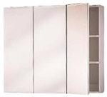 Zenith Products M24 Medicine Cabinet, Frameless, Tri-View