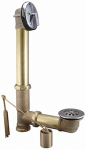 Plumb Pak 607RB Brass Trip Lever Bath Drain Assembly