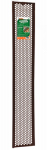 Thermwell Products G636BR Gutter Guard Screen, Brown Vinyl, 6-5/8-In. x 3-Ft.