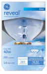 G E Lighting 48694 Reveal 40-Watt Clear Globe Light Bulb