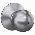 Schlage Lock F40CSVORB626 Satin Chrome Orbit Privacy Lockset