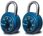 Master Lock 1530T 2-Pack Colored Dial Combination Padlocks