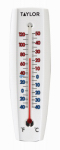 Taylor Precision Products 90110 Indoor/Outdoor Thermometer, Curved, 6.75 x 2.25-In.