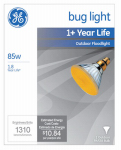 G E Lighting 20945 Miser Outdoor Bug Floodlight Bulb, 85-Watt