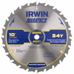 Irwin Industrial Tool 14233 Marathon Circular Saw Blade, 10-In., 24-Teeth
