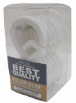 Ex-Cell Home Fashions 1ME-060O0-0328-100 Roller Glide Shower Curtain Hooks, 12-Pack White