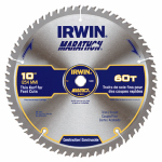 Irwin Industrial Tool 14074 Marathon Circular Saw Blade, Carbide-Tipped, 10-In., 60-Teeth