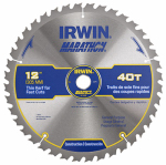 Irwin Industrial Tool 14080 Marathon Circular Saw Blade, Carbide-Tipped, 12-In., 40-Teeth