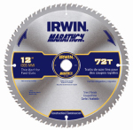 Irwin Industrial Tool 14082 Marathon Circular Saw Blade, Carbide-Tipped, 12-In., 72-Teeth