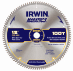 Irwin Industrial Tool 14084 Marathon Circular Saw Blade, Carbide-Tipped , 12-In., 100-Teeth