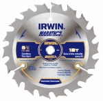 Irwin Industrial Tool 14015 Marathon Circular Saw Blade, Carbide-Tipped, 5-3/8-In., 18-Teeth