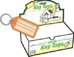 Hy-Ko Prod KB143-100 I.D. Key Tag, Split Ring, 100-Pk.