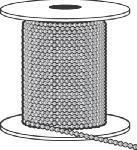 Hy-Ko Prod KBC198N Ball Chain, #6, Nickel-Plated Aluminum