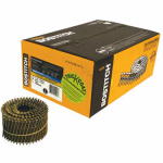 Stanley Bostitch C8R90BDG Coil Siding Nail, 2.5 x .092-In. Galvanized Ring Shank, 3,600-Pk.