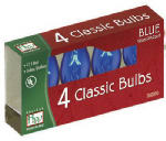 Noma/Inliten-Import 1075B-88 Christmas Lights Replacement Bulb, C7, Blue Transparent, 4-Pk.