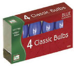 Noma/Inliten-Import 1095B-88 Christmas Lights Replacement Bulb, C9, Blue Transparent, 4-Pk.