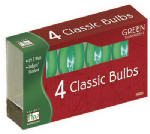 Noma/Inliten-Import 1095G-88 Christmas Lights Replacement Bulb, C9, Green Transparent, 4-Pk.
