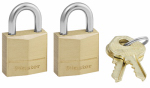 Master Lock 120-T 2-Pack 3/4-Inch Solid-Brass Body Pin Tumbler Keyed-Alike Padlock