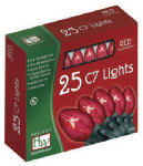 Noma/Inliten-Import 525R-88 Christmas Lights Set, Clear Red, 25-Ct.