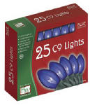 Noma/Inliten-Import 925B-88 Christmas Lights Set, Clear Blue, 25-Ct.