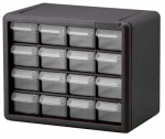 Akro Mils 10716 Small Parts Storage Cabinet, 16-Drawers