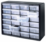 Akro Mils 10724 Small Parts Storage Cabinet, 24-Drawers