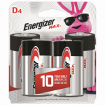 "Eveready Battery E95BP-4 ""D"" Alkaline Batteries, 4-Pk."