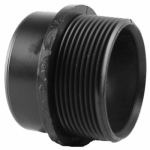 "Charlotte Pipe & Foundry ABS 00103  0800HA 1-1/2""Male Trap Adapter"