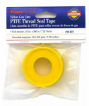 William H Harvey 017067 Yellow Gas Line Pipe Thread Seal Tape, 1/2 x 260-In.