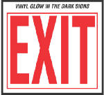 Hy-Ko Prod EE-3 10 x 12-Inch Vinyl Glow In The Dark Exit Sign