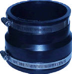 Fernco P1070-44 Flexible Coupling, Corrugated ADS to PVC Pipe,  4 x 4-In.